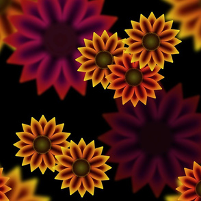 Late Summer Sunflowers (Warm)