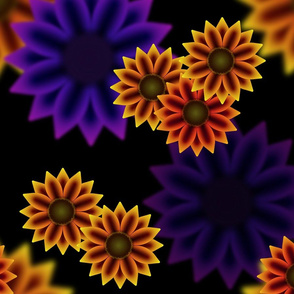 Late Summer Sunflowers (Split Complement)