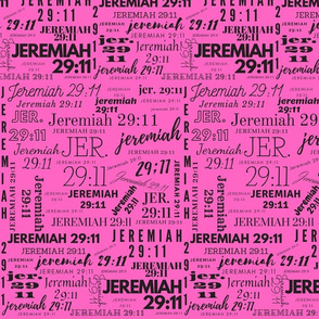 Pink and Black Jeremiah 2911 (2021)