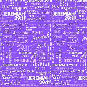 Purple and White Jeremiah 2911 (2021)