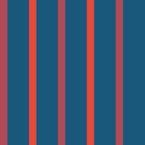Stripes, bordeaux, red and dark blue