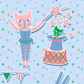 circus cats pastel