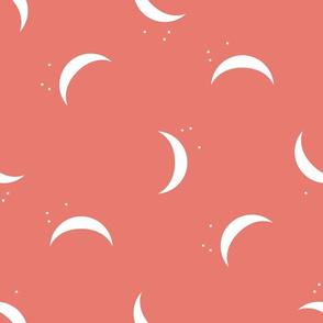 orange crescent moon