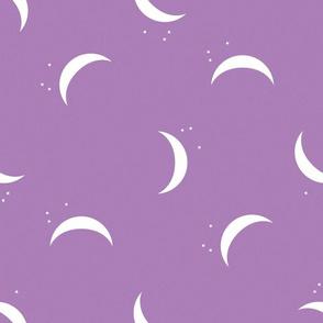 purple crescent moon