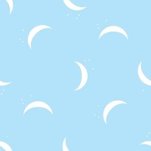 pale blue crescent moon