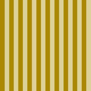 Stripes in dark mustard and linen