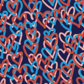 Hearts Per Million* (Jackie Blue) || spray paint graffiti hearts love valentine valentines day urban street art coral