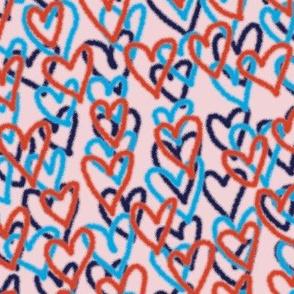 Hearts Per Million* (Pink Cow) || spray paint graffiti hearts love valentine valentines day urban street art