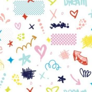 Hi-Gloss Toss* || spray paint graffiti street art urban arrows hearts love dream affirmation girl power stars polka dots