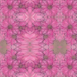 Pink layered flowers