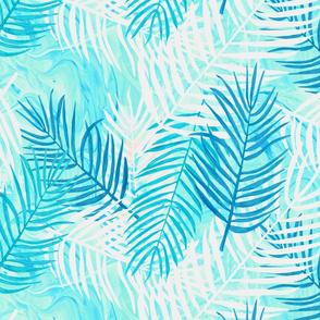 Palm Swirl - aqua