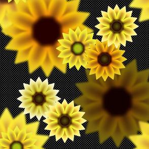 SummerSunflowers_YellowPolkaDot