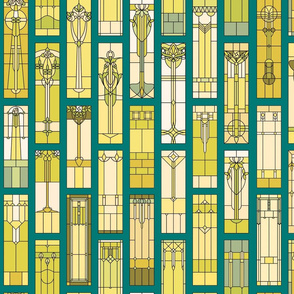 Stain Glass - teal