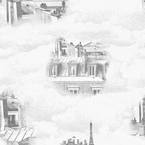Cloudy Day in Paris (Pale Grey)