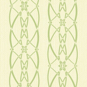 Textured trellis - avocado and cream