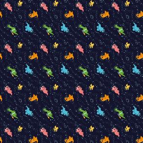 Dinosaurs In Space (90 deg Rotation)