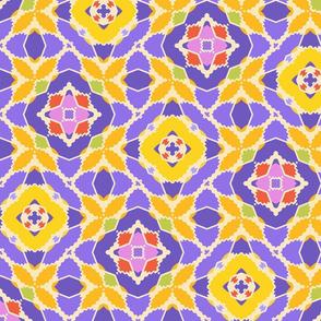 Yellow Purple Geometric
