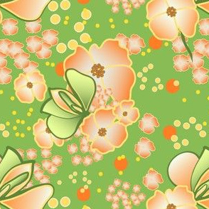 Glowing Spring Flowers