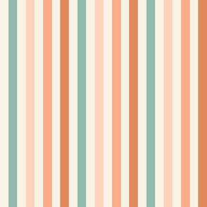 70s stripes, retro coordinate fabric - boho neutral stripes