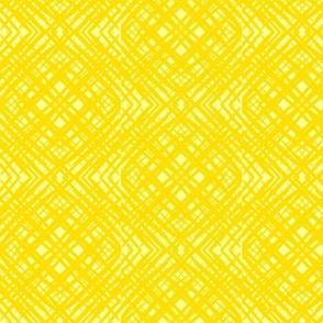 Sketchy Cross Hatch of Daffodil Yellow on Sunbeam Yellow