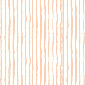 peach stripes hand-painted stripes fabric nursery fabric girls fabric collection painterly girls design