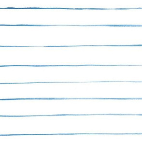 Blue watercolor horizontal stripes