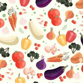 Vegetable pattern 2