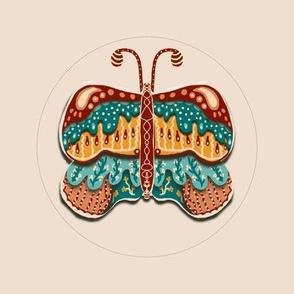 Embroidery template folk art butterfly 5