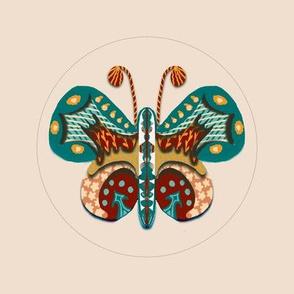 Embroidery template folk art butterfly 6