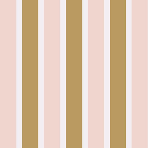 Pink and mustard yellow stripes 8x8 inch