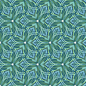 Carnival Fireworks Teal Green Small