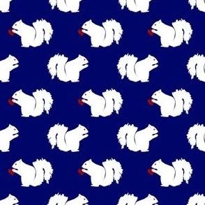 Casper the White Squirrel -Red