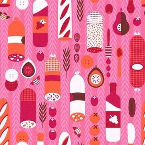 Retro Deli Vertical Pink