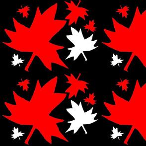 Maple Leaf on Black (Large)