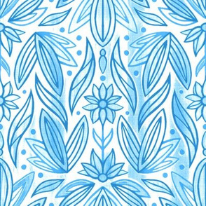 Rococo Light Blue Art Deco - Small Scale