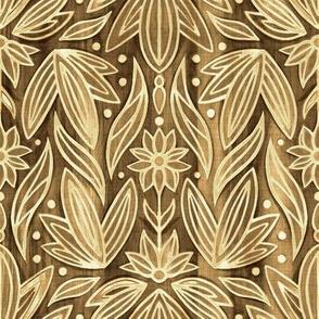 Rococo Wooden Art Deco - Small Scale
