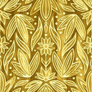 Rococo Golden Enamel Art Deco - Small Scale