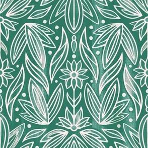 Rococo Bluish Green Art Deco - Small Scale