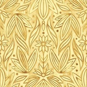 Rococo Yellow Gold Enamel Art Deco - Small Scale