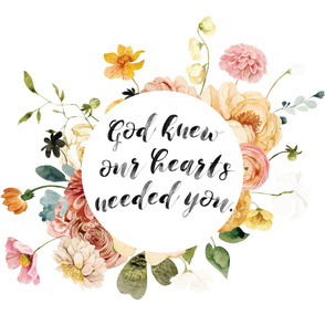 36x42: god knew our hearts needed you // kiss me kate bouq
