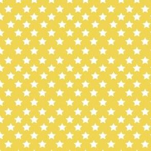 """4"""" White Stars Yellow Back"""