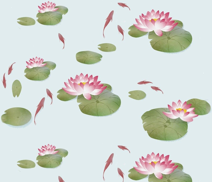 Japanese Lily Pads Fish