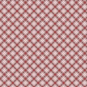 Fertile Land - Ethno Slavic Symbol Folk Pattern - Orepey Sown Field - Obereg Ornament - Gray Red White Black - 2 Smaller Scale