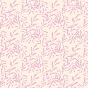 A Drift of Rondeletia Pink Leaves on Barely Pink - Small Scale