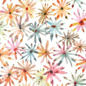 Multicolor Floral Watercolors