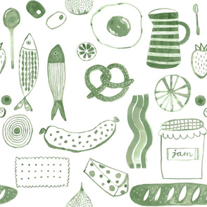 Bon appetit Medium_White and Sage green