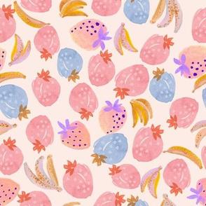 Watercolor Fruit Mix