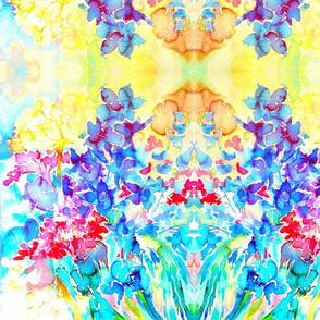 Marias Garden Flowers Crepe de Chine-ed