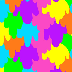 Neon Paint Dripping