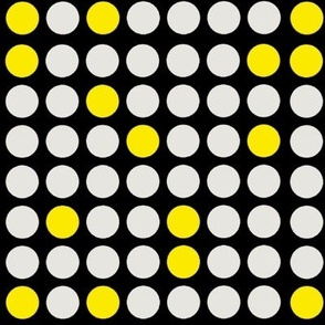 Dots Yellow Black and White